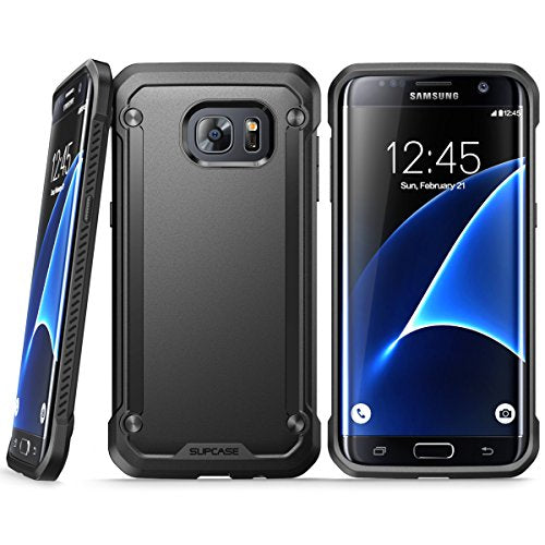 Galaxy S7 Edge Case, SUPCASE Unicorn Beetle Series Premium Hybrid Protective Clear Case for Samsung Galaxy S7 Edge 2016 Release, Retail Package (Black/Black)