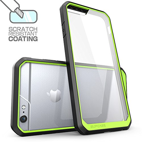 iPhone 6S Plus Case , SUPCASE Also Fit Apple iPhone 6 Plus Case [Unicorn Beetle] Clear Hybrid Protective Bumper Case (Frost/Green/Black)