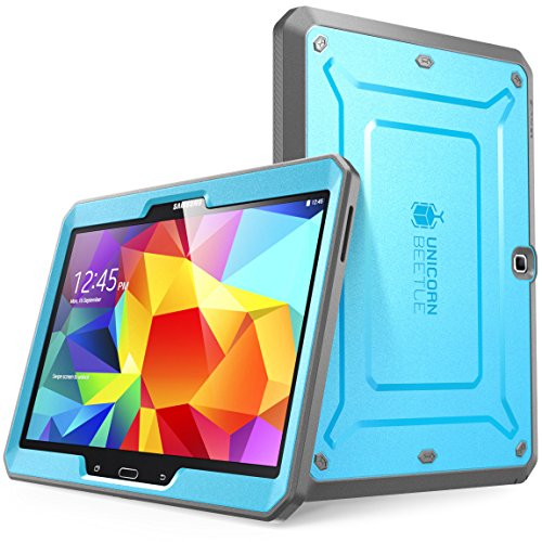 Samsung Galaxy Tab 4 10.1 Case, SUPCASE [Heavy Duty] Case for Galaxy Tab 4 10.1 Tablet [Unicorn Beetle PRO Series] Full-body Rugged Hybrid Protective Cover with Built-in Screen Protector (Blue/Black)