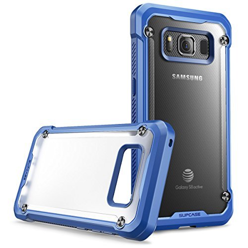 Samsung Galaxy S8 Active Case, SUPCASE Unicorn Beetle Series Premium Hybrid Protective Frost Clear Case for Samsung Galaxy S8 Active 2017 Release (Not Fit Regular Galaxy S8/S8 Plus) (Frost/Navy)