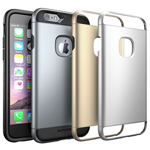 iPhone 6S Case, SUPCASE 2 Layer Slim Hybrid Case with 3 Interchangeable Covers for Apple iPhone 6 / 6S 4.7 inch - Retail Package - Space Gray/Silver/Gold