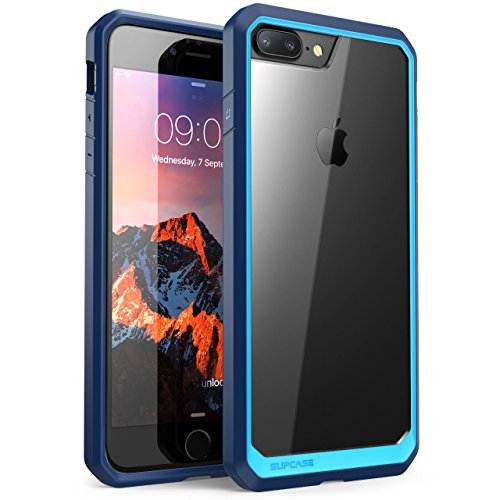 iPhone 8 Plus Case, SUPCASE Unicorn Beetle Series Premium Hybrid Protective Clear Case for Apple iPhone 7 Plus 2016 / iPhone 8 Plus 2017 Release (Blue/Navy)