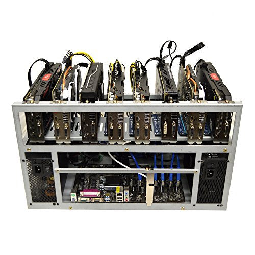 SPARTAN V2 Open Air GPU Mining Rig Frame Computer Case Chassis - Ethereum ETH Zcash ZEC Monero XMR