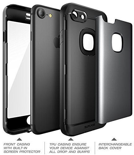 iPhone 8 Case, SUPCASE Water Resistant Full-body Rugged Case with Built-in Screen Protector with 3 Interchangeable Covers for Apple iPhone 7 2016 / iPhone 8 2017 Release