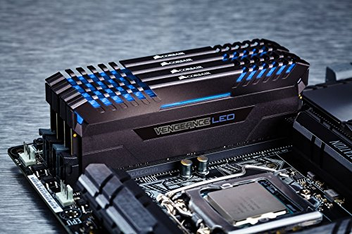 Corsair Vengeance LED 64GB DDR4 3000 C15 for DDR4 Systems - Blue LED PC Memory CMU64GX4M4C3000C15B