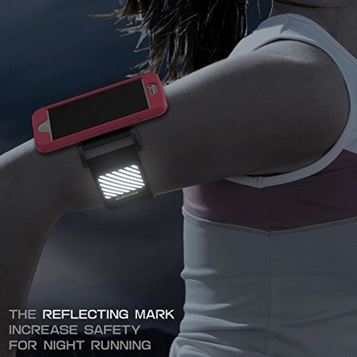 iPhone 6 Armband, SUPCASE Apple iPhone 6 Armband 4.7 inch Easy Fitting Sport Running Armband with Premium Flexible Case Combo for iPhone 6 Case (Pink), Not Fit iPhone 6 Plus 5.5 inch