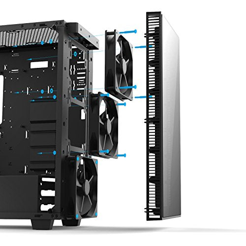 anidees AI-CRYSTAL-PM Mid Tower Liquid Cooling, Gaming ATX Case w/ Tempered Glass, E-ATX,360 / 280