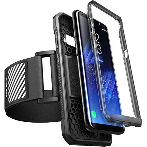 Galaxy S8+ Plus Armband, SUPCASE Easy Fitting Sport Running Armband with Premium Flexible Case Combo for Samsung Galaxy S8+ Plus 2017 Release (Black)