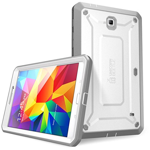 SUPCASE Samsung Galaxy Tab 4 7.0 Case - Unicorn Beetle PRO Series Full-body Hybrid Protective Case with Screen Protector (White/Gray), Dual Layer Design/Impact Resistant Bumper Prime