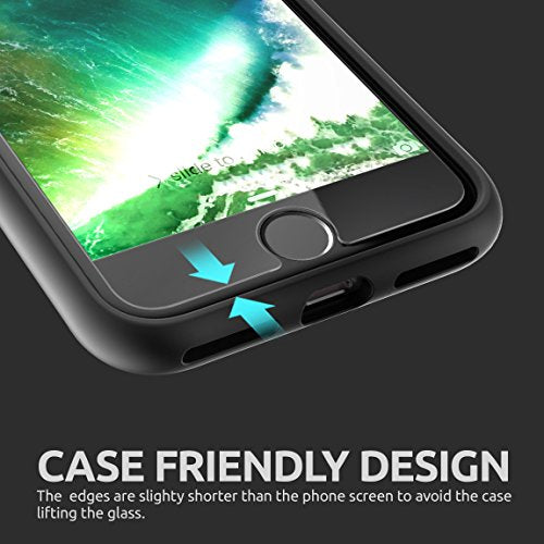 SUPCASE iPhone 7 Screen Protector, Premium HD Tempered Glass Screen Protector (2-Pack) (Compatible with Apple iPhone 6/6s/7) (iPhone 7)