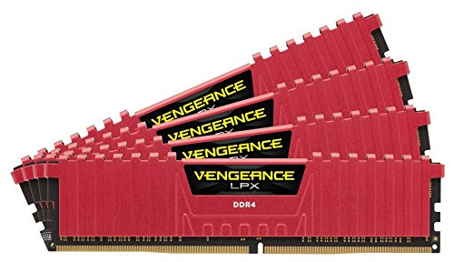 Corsair Vengeance LPX 32GB (4x8GB) DDR4 4000MHz for Intel 200 - Red PC Memory CMK32GX4M4B4000C19R