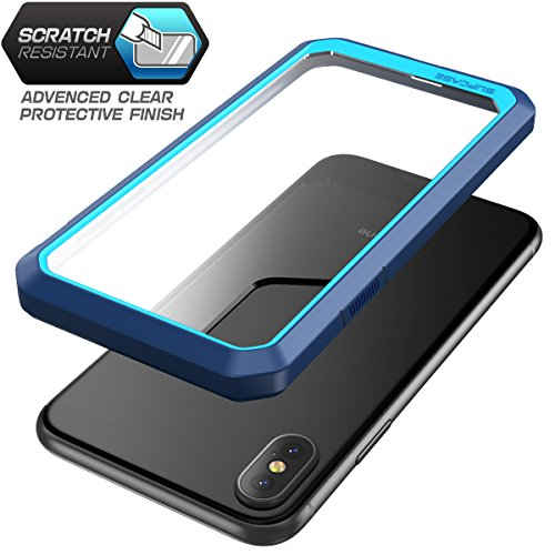 SUPCASE iPhone X Case, Unicorn Beetle Series Premium Hybrid Protective Frost Clear Case for Apple iPhone X 2017 (Blue/Navy)