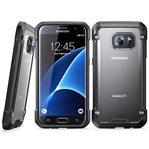 Galaxy S7 Case, SUPCASE Unicorn Beetle Series Premium Hybrid Protective Clear Case for Samsung Galaxy S7 2016 Release, Retail Package (Frost/Black)