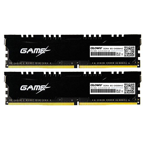 DDR4,Memory Ram for Desktop 16GB(8GBx2) DDR4 2400MHz PC4 19200 CL17 1.2V Double Channel