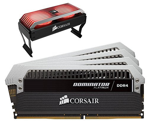 Corsair C17 - Intel 100/200 Series DOMINATOR Platinum 32GB (4x8GB) DDR4 3733 (PC4-29800) PC Memory (CMD32GX4M4B3733C17)
