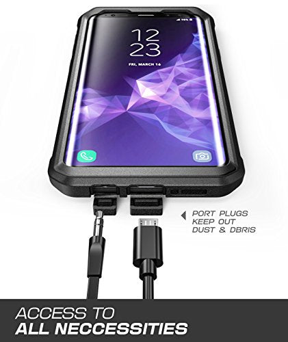 Samsung Galaxy S9 Case, SUPCASE Full-body Rugged Holster Case with Built-in Screen Protector for Galaxy S9 (2018 Release), Unicorn Beetle PRO Series - Retail Package (Black)