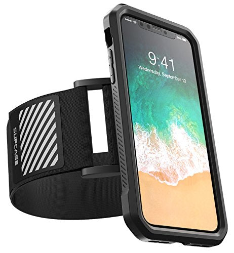 iPhone X Armband, SUPCASE Easy Fitting Sport Running Armband Case for Apple iPhone X / iPhone 10 2017 Release (Black)