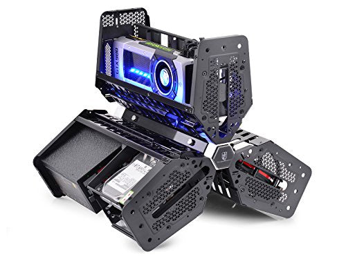 DEEPCOOL BOOKING of Tristellar SW PC Case with Side Window Unique Compartmentalized System Separating Motherboard, Graphic Card and PSU into 3 Cabins