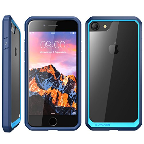 iPhone 8 Case, SUPCASE Unicorn Beetle Series Premium Hybrid Protective Frost Clear Case for Apple iPhone 7 2016 / iPhone 8 2017 (Blue/Navy)