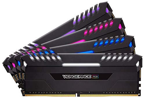 Corsair CMR64GX4M4C3333C16 VENGEANCE RGB 64GB DDR4 3333 (PC4-26600) C16 Desktop Memory Intel 100/200
