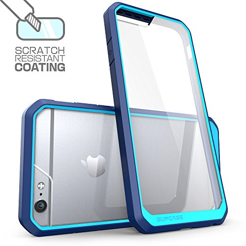 iPhone 6S Case, SUPCASE Apple iPhone 6 (2014) / iPhone 6S (2015) Case 4.7 Inch [Unicorn Beetle Series] Hybrid Bumper Cover (Frost/Blue/Black)