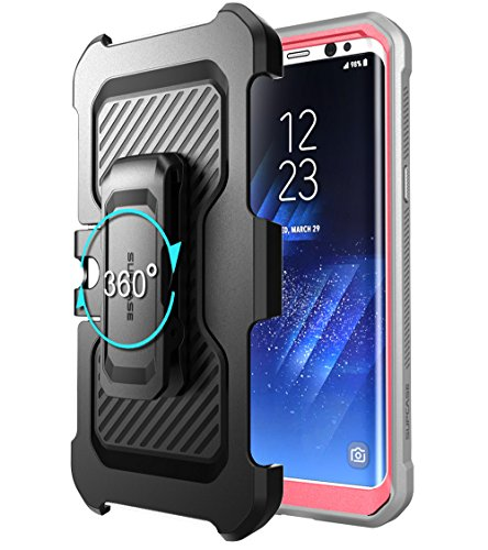 SUPCASE Galaxy S8 Case Full-body Rugged Holster Case WITHOUT Screen Protector for Galaxy S8 (2017 Release), Unicorn Beetle PRO Series - Retail Package (Pink/Gray)