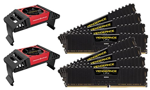 Corsair CMK64GX4M8X4200C19 Vengeance LPX 64GB (8x8GB) DDR4 4200 (PC4-33600) C19 Computer Internal Memory for Intel X299 Black