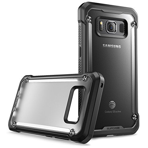 Samsung Galaxy S8 Active Case, SUPCASE Unicorn Beetle Series Premium Hybrid Protective Frost Clear Case for Samsung Galaxy S8 Active 2017 Release (Not Fit Regular Galaxy S8/S8 Plus) (Frost/Black)