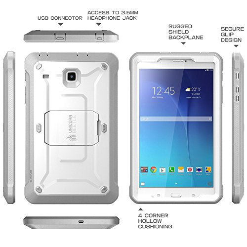 SUPCASE Galaxy Tab E 8.0 Case, Unicorn Beetle PRO Series Full-body Hybrid Protective Case with Screen Protector for Samsung Galaxy Tab E 8.0 Inch SM-T378/ SM-T375 / SM-T377 Tablet (White)