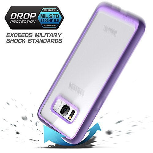SUPCASE Galaxy S8 Case,  Unicorn Beetle Style Premium Hybrid Protective Clear Case for Samsung Galaxy S8 2017 Release (Purple)