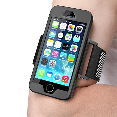 low priced c5dff 43626 iPhone SE Armband, SUPCASE Easy Fitting Sport Running Armband with Premium  Flexible Case Combo for Apple iPhone SE 2016 Release/Compatible with iPhone  ...