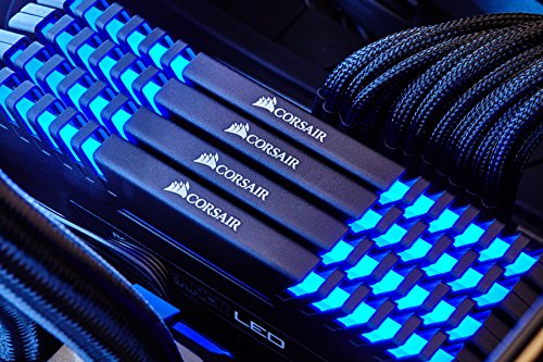 Corsair Vengeance LED 64GB (4 X 16GB) DDR4 2666 (PC4-21300)C16 for DDR4 Systems -Blue LED PC memory CMU64GX4M4A2666C16B