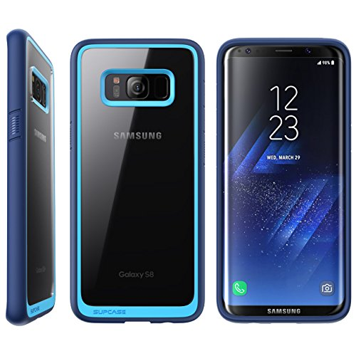 SUPCASE Galaxy S8 Case,  Unicorn Beetle Style Premium Hybrid Protective Clear Case for Samsung Galaxy S8 2017 Release (Navy)