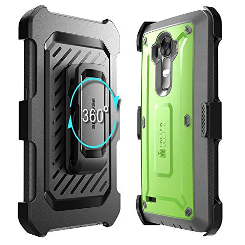 LG G4 Case, SUPCASE Full-body Rugged Holster Case with Built-in Screen Protector for LG G4 2015 Release, Unicorn Beetle PRO Series - Retail Package (Green/Gray)