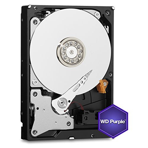 WD Purple 1TB Surveillance Hard Disk Drive - 5400 RPM Class SATA 6 Gb/s 64MB Cache 3.5 Inch - WD10PURX [Old Version]