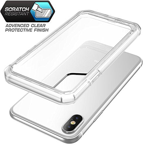 SUPCASE iPhone X Case, Unicorn Beetle Series Premium Hybrid Protective Frost Clear Case for Apple iPhone X 2017 (Frost/Frost)