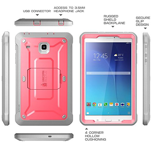 SUPCASE Galaxy Tab E 8.0 Case, Unicorn Beetle PRO Series Full-body Hybrid Protective Case with Screen Protector for Samsung Galaxy Tab E 8.0 Inch SM-T378/ SM-T375 / SM-T377 Tablet (Pink/Gray)