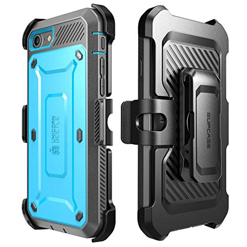 iPhone 7 Case, iPhone 8 Case, SUPCASE Unicorn Beetle PRO Series Full-body Rugged Holster Case with Built-in Screen Protector for Apple iPhone 7 2016 / iPhone 8 2017 (Blue/Black)