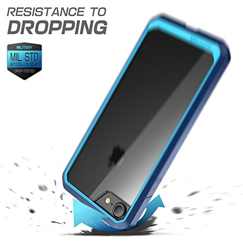 iPhone 7 Case, iPhone 8 Case, SUPCASE Unicorn Beetle Series Premium Hybrid Protective Frost Clear Case for Apple iPhone 7 2016 / iPhone 8 2017(Blue/Navy)