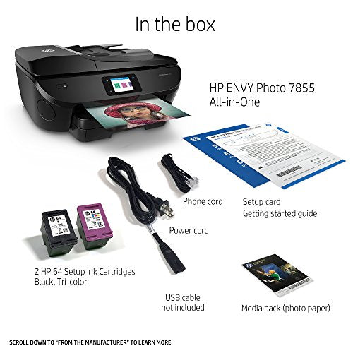 HP ENVY Photo 7855 All in One Photo Printer with Wireless Printing, Instant Ink ready