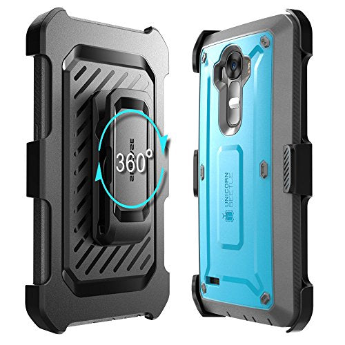 LG G4 Case, SUPCASE Full-body Rugged Holster Case with Built-in Screen Protector for LG G4 2015 Release, Unicorn Beetle PRO Series - Retail Package (Blue/Black)