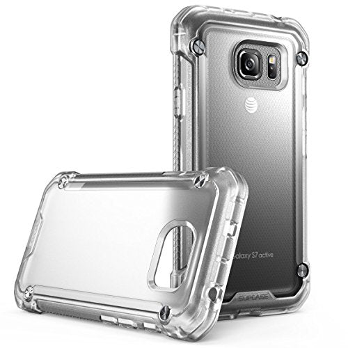 Galaxy S7 Active Case, SUPCASE Unicorn Beetle Series Premium Hybrid Protective Clear Case for Samsung Galaxy S7 Active 2016 Release (NOT COMPATIBLE with Galaxy S7) (Frost/Frost)