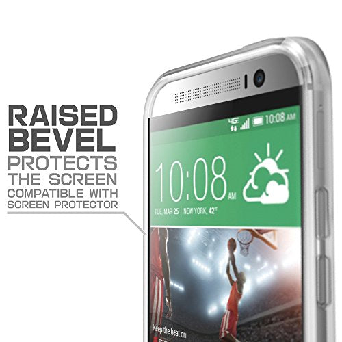 HTC One M8 Case, SUPCASE Unicorn Beetle Premium Hybrid Protective Case for All New HTC One M8 2014 Release (Frost Clear/Frost Clear)