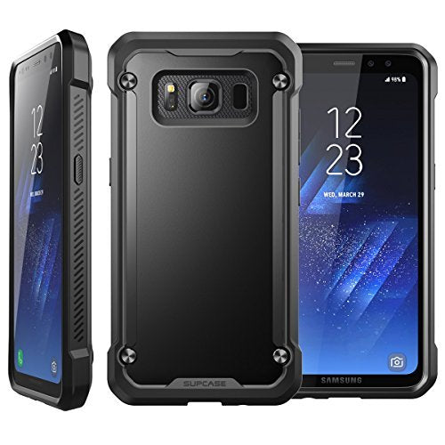 Samsung Galaxy S8 Active Case, SUPCASE Unicorn Beetle Series Premium Hybrid Protective Frost Clear Case for Samsung Galaxy S8 Active 2017 Release (Not Fit Regular Galaxy S8/S8 Plus) (Black/Black)