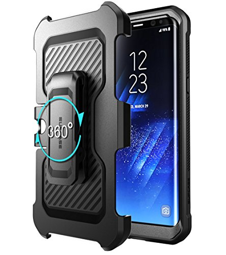 SUPCASE Galaxy S8 Case Full-body Rugged Holster Case WITHOUT Screen Protector for Galaxy S8 (2017 Release), Unicorn Beetle PRO Series - Retail Package (Black/Black)