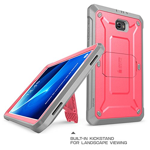 Galaxy Tab A 10.1 Case, SUPCASE [Heavy Duty] [Unicorn Beetle PRO Series] Full-body Rugged Protective Case with Built-in Screen Protector for Samsung Galaxy Tab A 10.1 inch (2016) (Pink/Gray)