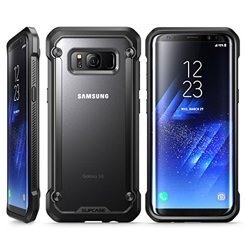 Samsung Galaxy S8+ Plus Case, SUPCASE Unicorn Beetle Series Premium Hybrid Protective Frost Clear Case for Samsung Galaxy S8+ Plus 2017 Release, Retail Package (Frost/Black)