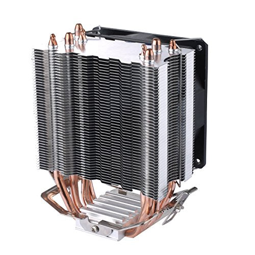 Premium Quality upHere Quiet CPU Cooler with 4 Direct Contact Heatpipes, Red LED Fan