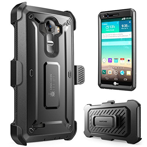 LG G4 Case, SUPCASE Full-body Rugged Holster Case with Built-in Screen Protector for LG G4 2015 Release, Unicorn Beetle PRO Series - Retail Package (Black/Black)