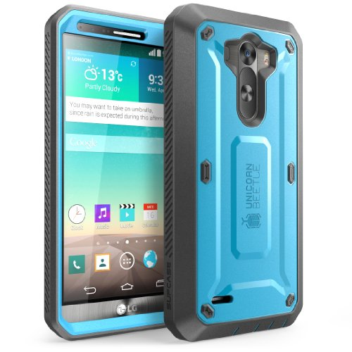 LG G3 Case, SUPCASE [Heavy Duty] LG G3 Case [Unicorn Beetle PRO Series] Full-body Rugged Hybrid Protective Case with Built-in Screen Protector (Blue/Black), Dual Layer Design + Impact Resistant Bumper